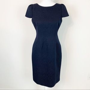 Tahari cap sleeve sheath dress career wear
